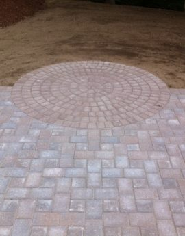 Bow Paver Patio with Circle Pattern